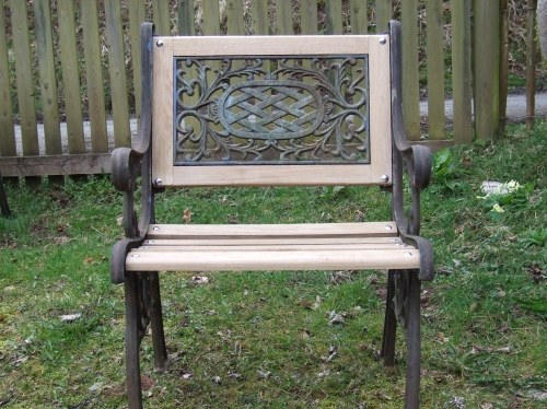 fancy back garden chair