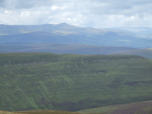 the view across to the Brecon Beacons