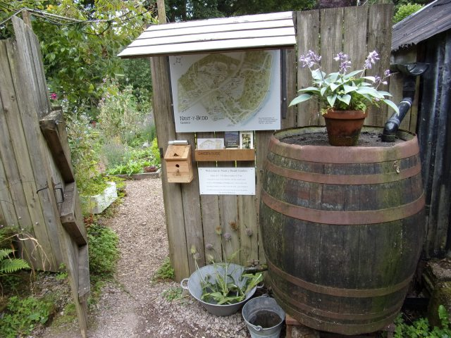 The entrance to the potager