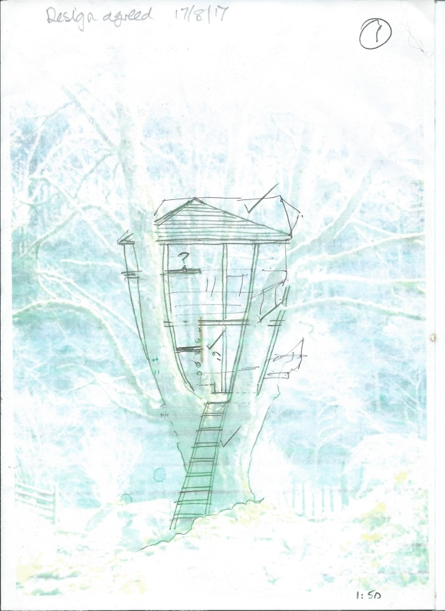 drawing of treehouse