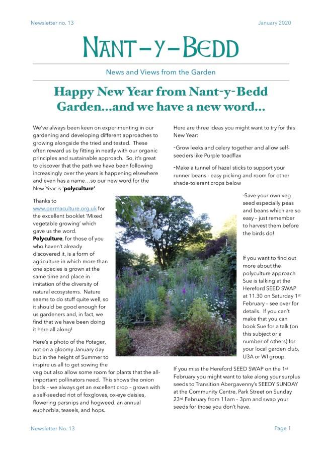 Jan 2020 newsletter